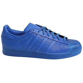 Adidas Superstar Adicolour Bağcıklı Mavi Deri Erkek Eğitmenler S80327 M15