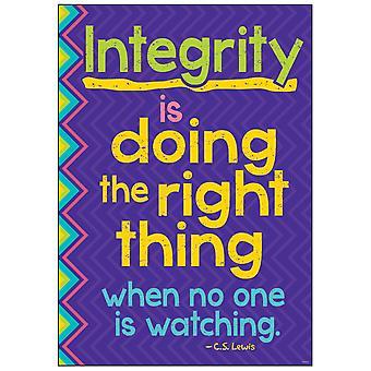 """Integrität tut das Richtige... Argus Poster, 13.375"""" X 19"""""""