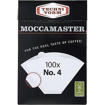 Moccamaster no.4 filter paper - 100 filters box