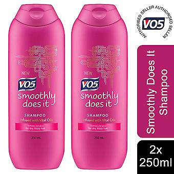 2x of 250ml VO5 Smoothly Doseit Shampoo With Vital Oil for Dry, Frizzy Hairpoo Infused With 5 Vital Oils, Smoothly Does It, 250ml