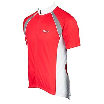 Eigo Logic Mens Short Sleeve Cycling Jersey Red / White