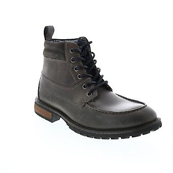 Andrew Marc Yates  Mens Gray Leather Casual Dress Boots