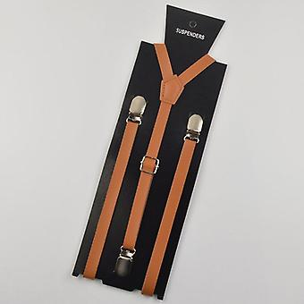 High Quality Suspender Braces Men's/women's Pu Leather Suspenders