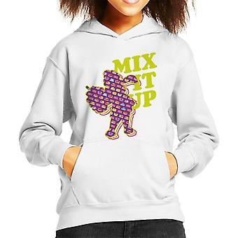 Slush Puppie Pattern Silhouette Mix It Up Kid's Hooded Sweatshirt
