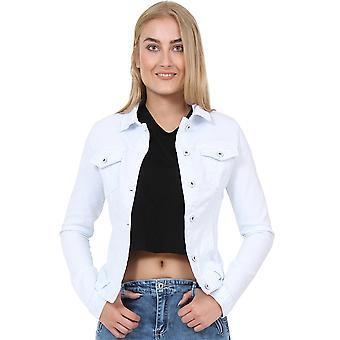 Equipado Stretch Denim Jacket - White