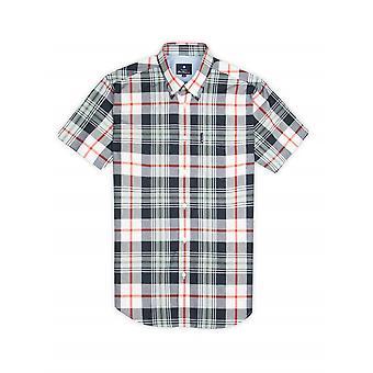 Ben Sherman Lemon & Navy Multi Check Short Sleeve Shirt