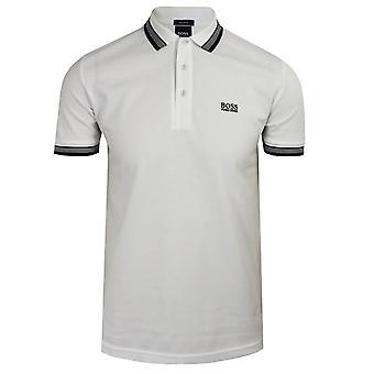 Hugo boss men's white paddy polo shirt