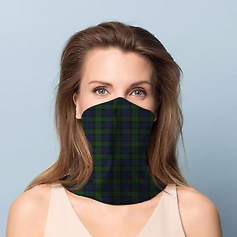 Cobertura do rosto do cachecol de pescoço tartan verde