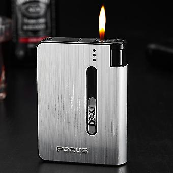 Automatic Cigarette Case Mount Lighter Metal Box Smoking