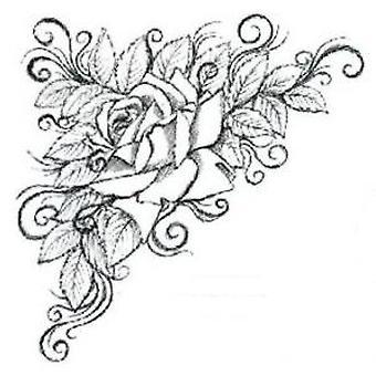 Creative Expressions Rose Corner precut -leima