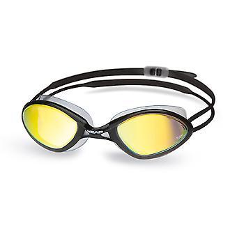 ראש מירוץ נמר מראה נוזלים לשחות משקפי מגן-שחור/ברור