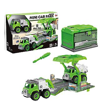 Children's disassembly and assembly of sanitation vehicle toys