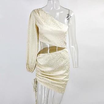 One-shoulder Crop Top And High Waist Skirt Two-piece Set