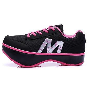 Women Slimming Shoes, Stovepipe Body Sculpting Vulcanized Shoes