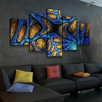 Conjunto de lienzo fractales abstractos