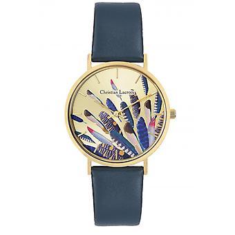 Assista à mulher Christian Lacroix Relógios CLW311 - Couro Azul