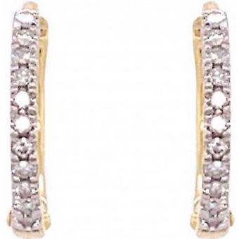 Mark Milton Diamond Hoop Earrings  - Gold