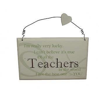 I Got The Best Teacher Sentimental Gift Plaque