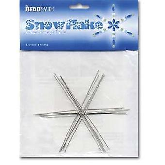 Beadsmith Metal Wire Snowflake Forms - Hauska käsityön beading-projekti 3 3/4 tuumaa, 8 kappaletta