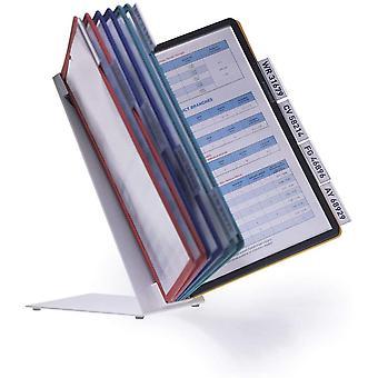 FengChun 557000 Tisch-Sichttafelsystem (Vario Table 10, mit 10 Sichttafeln A4) mehrfarbig