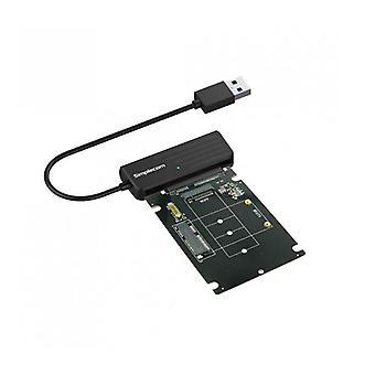 Simplecom Sa225 Usb To Msata Plus M2 2 In 1 Combo Adapter