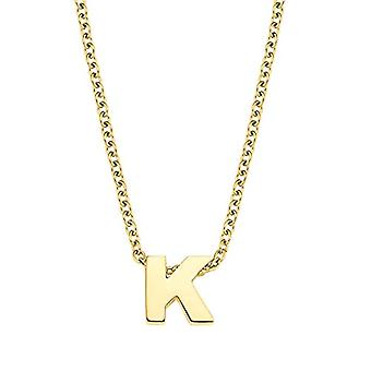 Amor Necklace with unisex pendant, letter K, Letter, stainless steel plated yellow gold