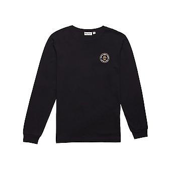 Rhythm Stamp Long Sleeve T-Shirt in Black