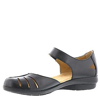 ARRAY Womens Antigua Leather Closed Toe Ankle Strap Mary Jane Flats