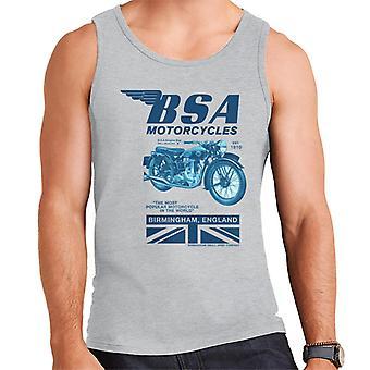 BSA Motorcycles Birmingham England Men's Vest