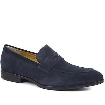 Steptronic Mens Finsbury Suede Penny Loafers
