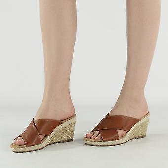 Shumo Lime Bay Ladies Wedge Heel Sandals Tan