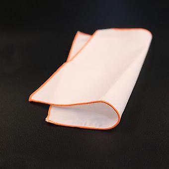 Oranssi leikata tavallinen valkoinen tyyli 100% puuvillaa tasku neliö