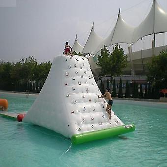 水冰山充气玩具水上乐园大小 4*3*2.5 M 在夏季水中玩耍