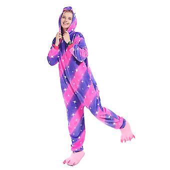 Regenboghorn Purple Star Pegasus Costume Unicorn Pajama Onesie Kigurumi Jumpsuit