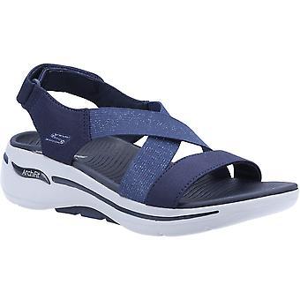 Skechers women's go walk arch fit astonish summer sandal various colours 32153