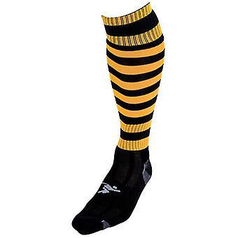 Presné Obručové Pro Futbalové ponožky Čierna / Jantárová - Veľká Británia Veľkosť J12-2