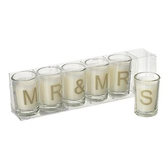 Mr & Mrs Candle  Gold Letters By Heaven Sends