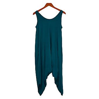 Anybody Jumpsuits Small Petite Cozy Knit Romper One-Piece Green A307757