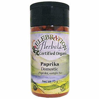 Celebration Herbals Organic Paprika Domestic, 58 grams
