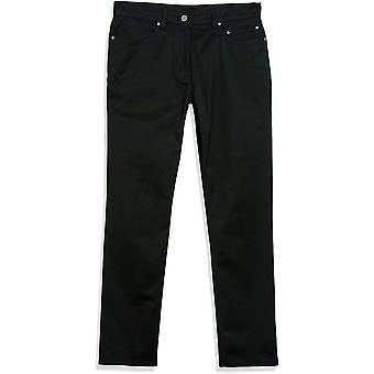 Märke - Knäppt ner mäns raka passform 5-Pocket Easy Care Stretch Twill Chino Pant