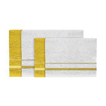 Asciugamano Estate, Colore Bianco, Giallo in Cotone, L40xP60 cm, L60xP100 cm