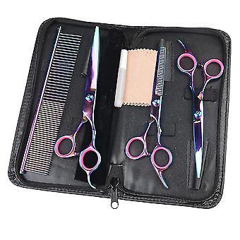 4 pezzi Set Pet Dog Scissors Acciaio inossidabile Pet Cat Hair Grooming Tools