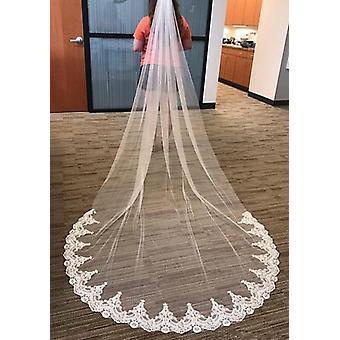 Voile de mariée en dentelle à une couche