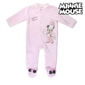 Costume romper à manches longues pour bébé Minnie Mouse Rose