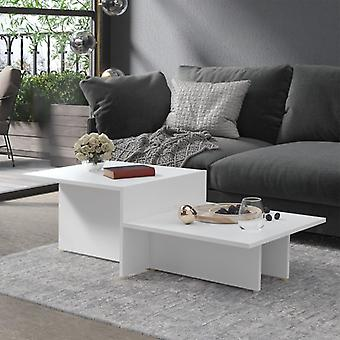 vidaXL Sohvapöytä Valkoinen 111,5x50x33 cm Lastulevy