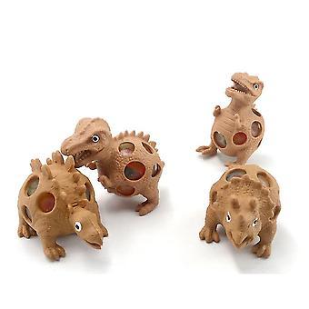 4pcs דינוזאור Tpr הבלטה פידג'ט צעצועים מעוך כדור מתח הקלה צעצועים