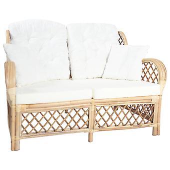 vidaXL 2-paikkainen rottinki sohva
