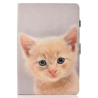 Case For Ipad 9 10.2 2021 Cover With Auto Sleep/wake Pattern Magnetic - Orange Cat