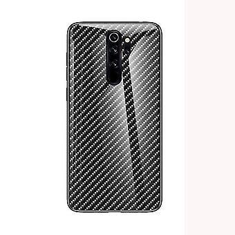 Magnifique étui en verre trempé résistant aux chocs pour Redmi Note 8 Pro - Noir