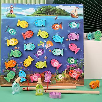 Puiset magneettiset kalastuslelut lapsille Baby Early Educational Puzzle Game Hands Lelut